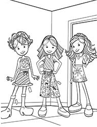 desene de colorat groovy girls