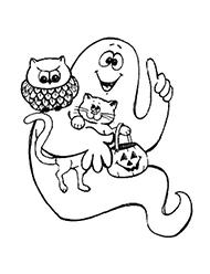 desene de colorat halloween