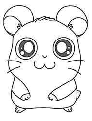 desene de colorat hamtaro
