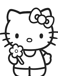 desene de colorat hello kitty
