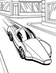desene de colorat hot wheels