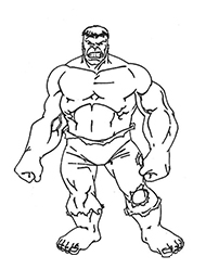 desene de colorat hulk