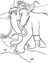 desene de colorat ice age