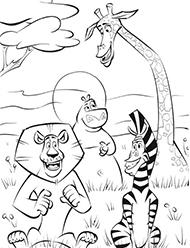 desene de colorat madagascar
