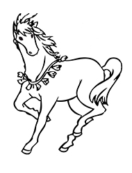 planse de colorat cu cai