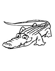planse de colorat cu crocodili