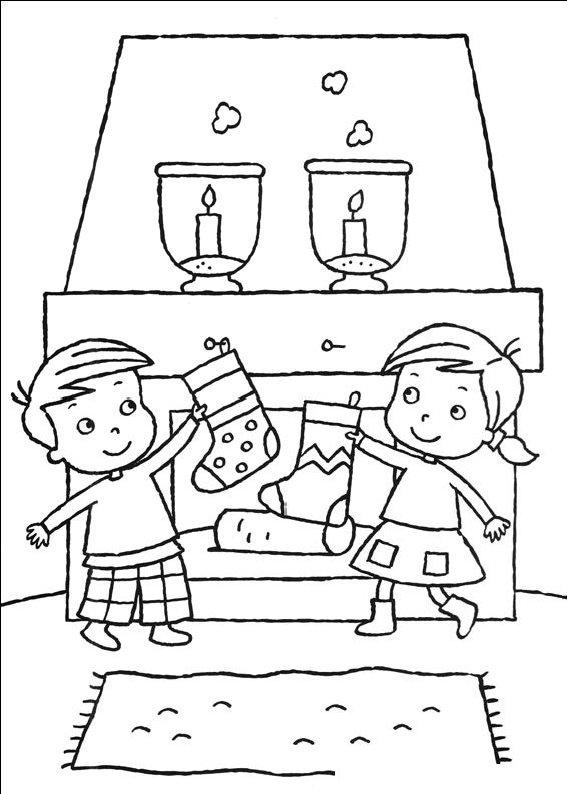 planse desene de colorat cadouri de craciun28