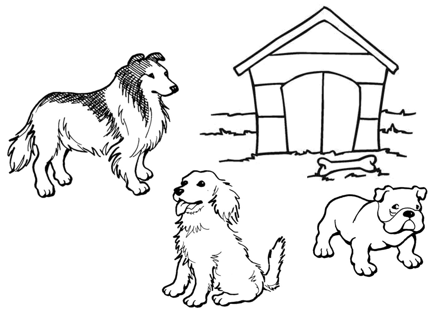 planse desene de colorat caine 32