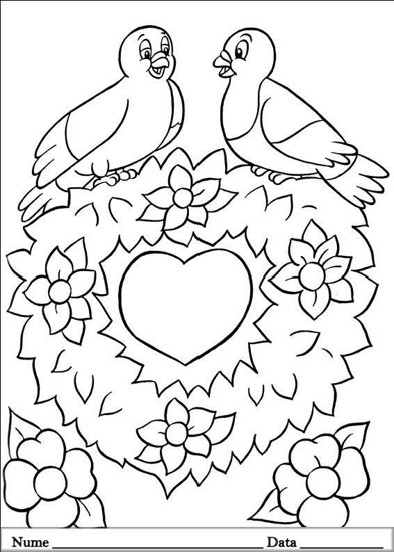 planse desene de colorat cu animale de pasti 10