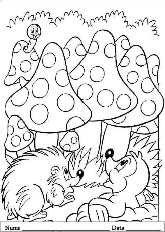 planse desene de colorat cu animale de pasti 15