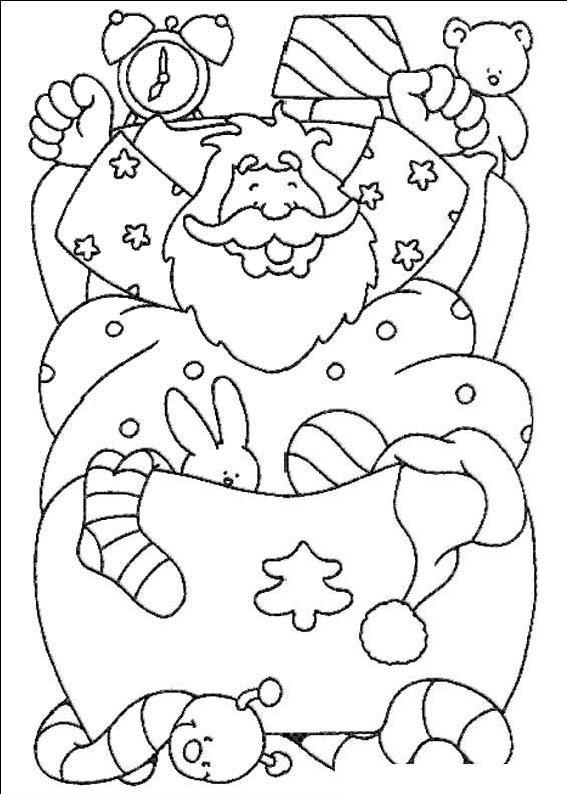 planse desene de colorat cu mos craciun 32