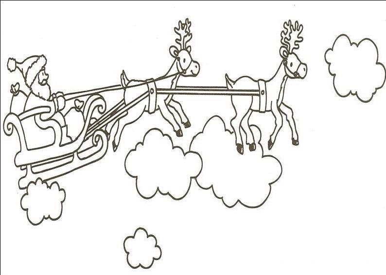 planse desene de colorat cu mos craciun 49
