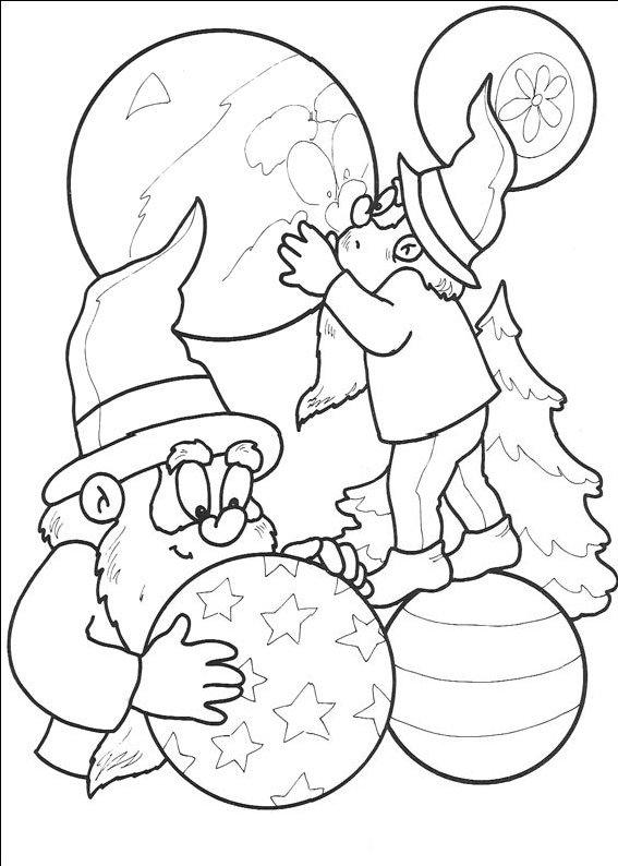 planse desene de colorat cu mos craciun 51