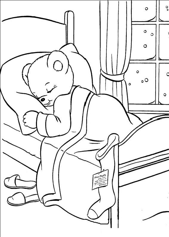 planse desene de colorat cu mos craciun 73