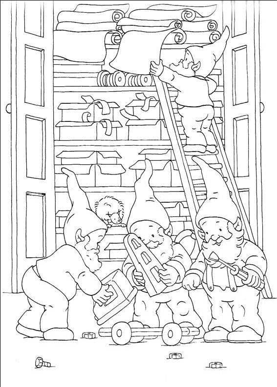 planse desene de colorat cu mos craciun 74