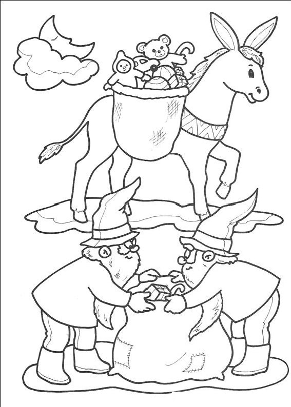 planse desene de colorat cu mos craciun 8