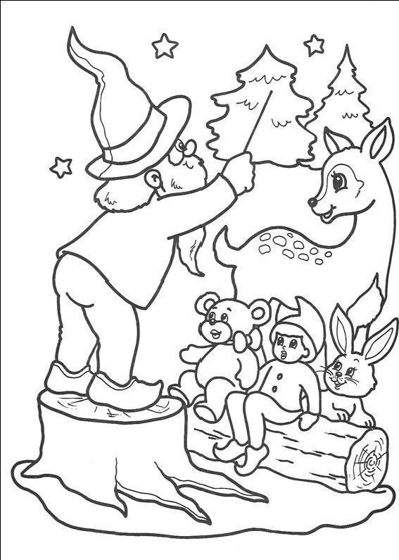 planse desene de colorat cu mos craciun 96