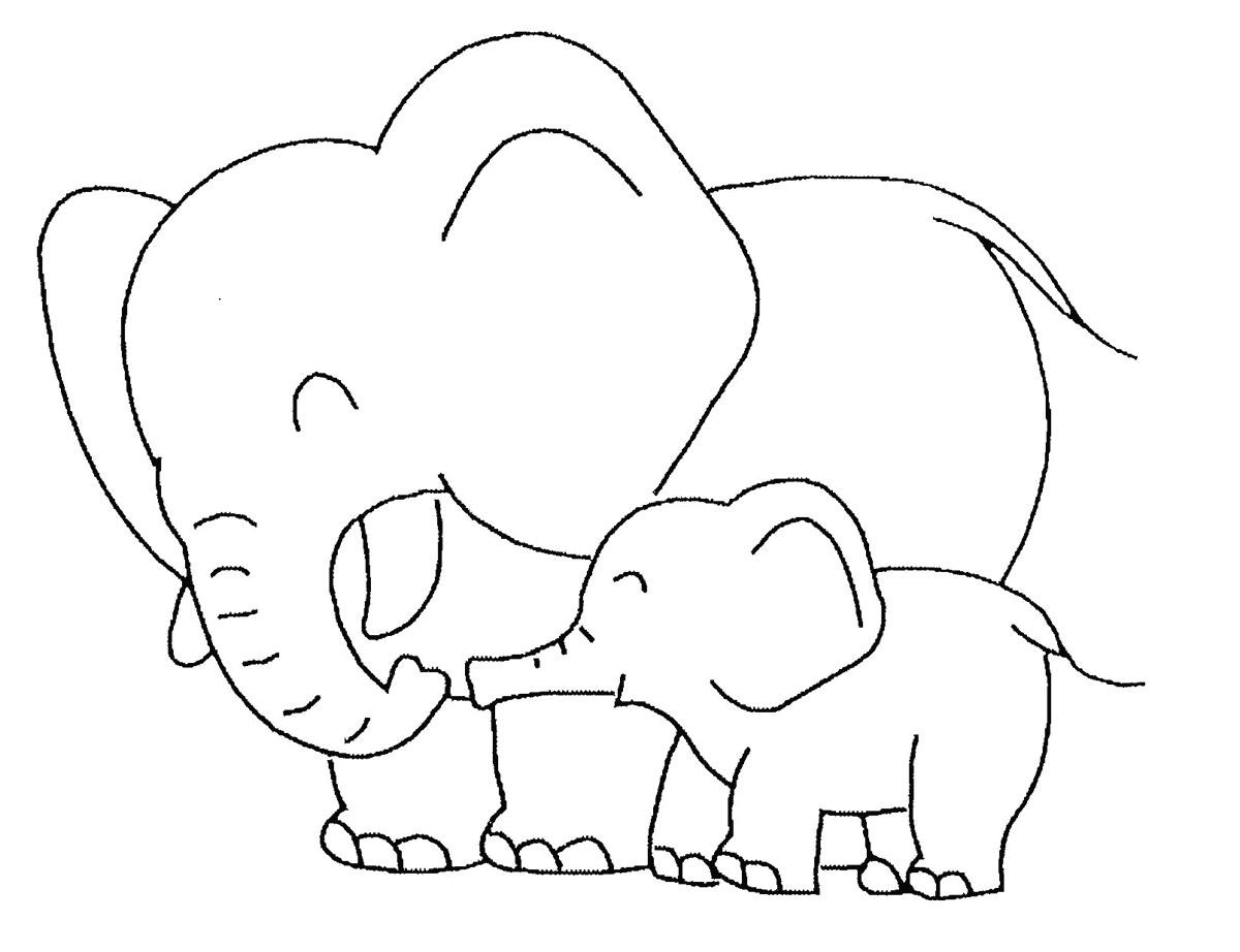 free coloring pages of elephant - photo#37
