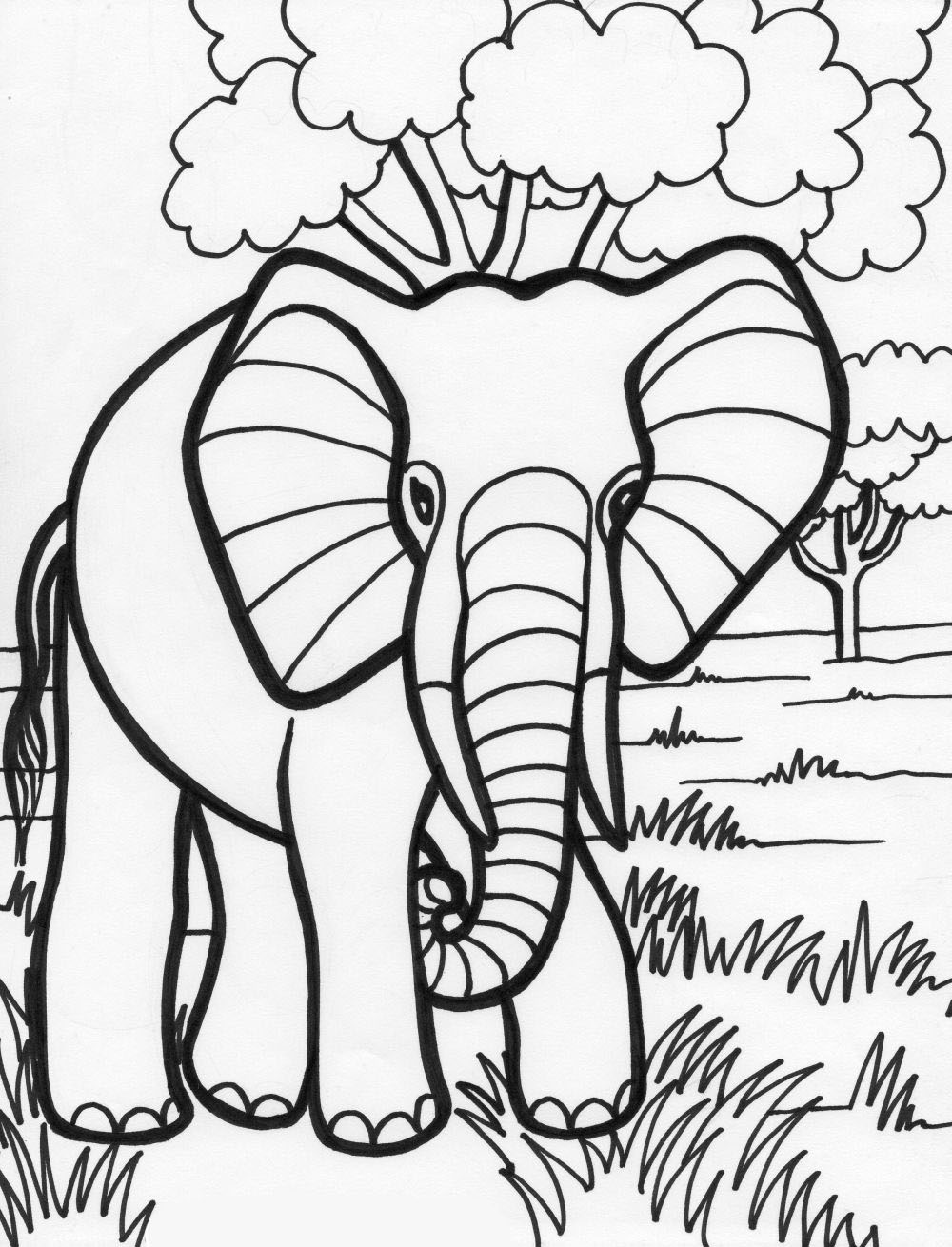 halloween elephant coloring pages - photo#29