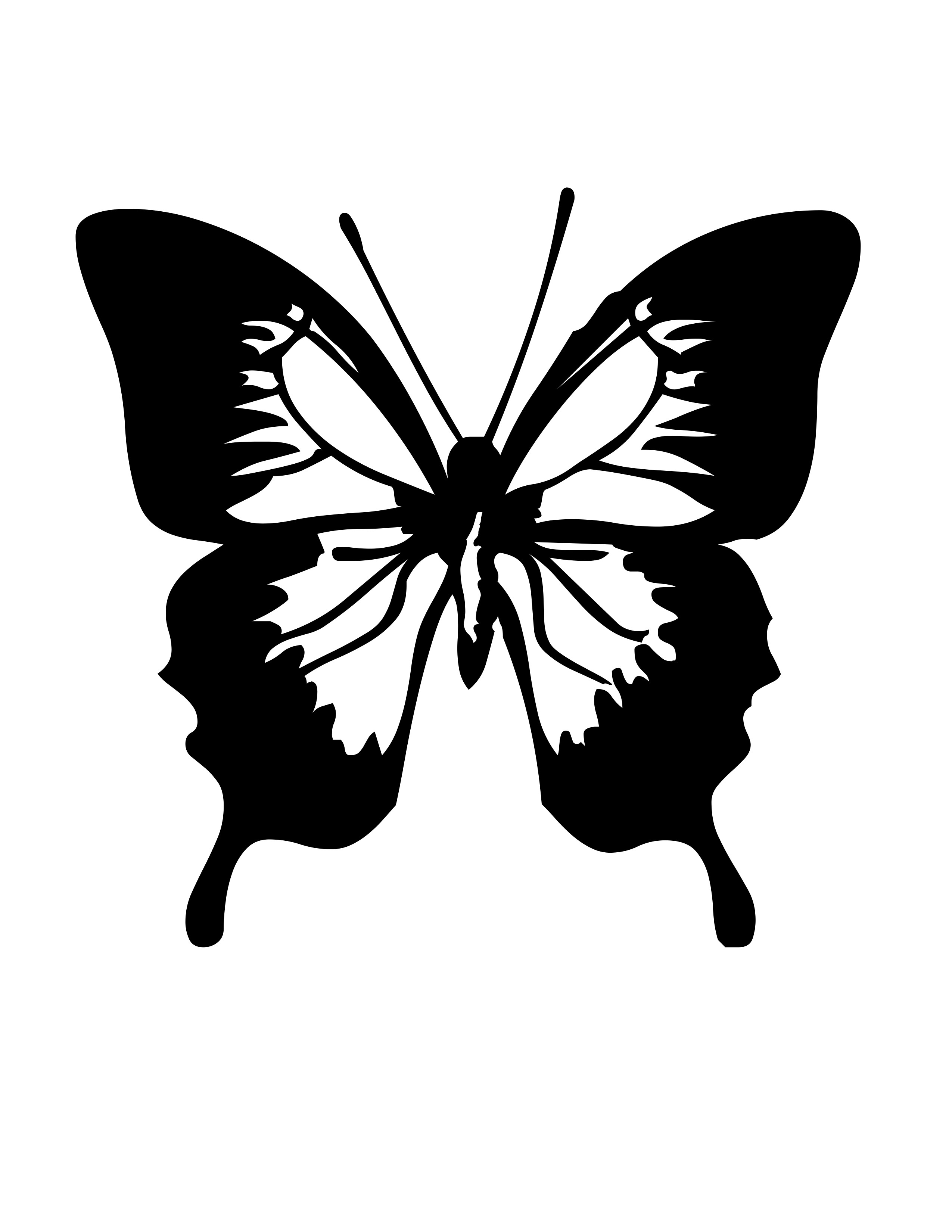 planse desene de colorat fluture 8