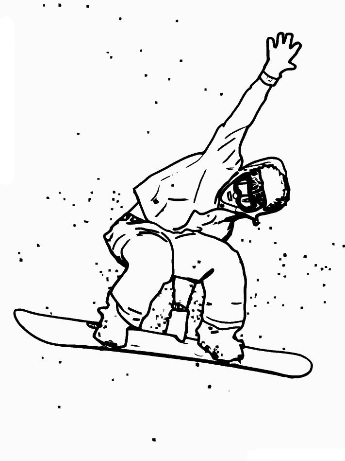 planse desene de colorat iarna 31