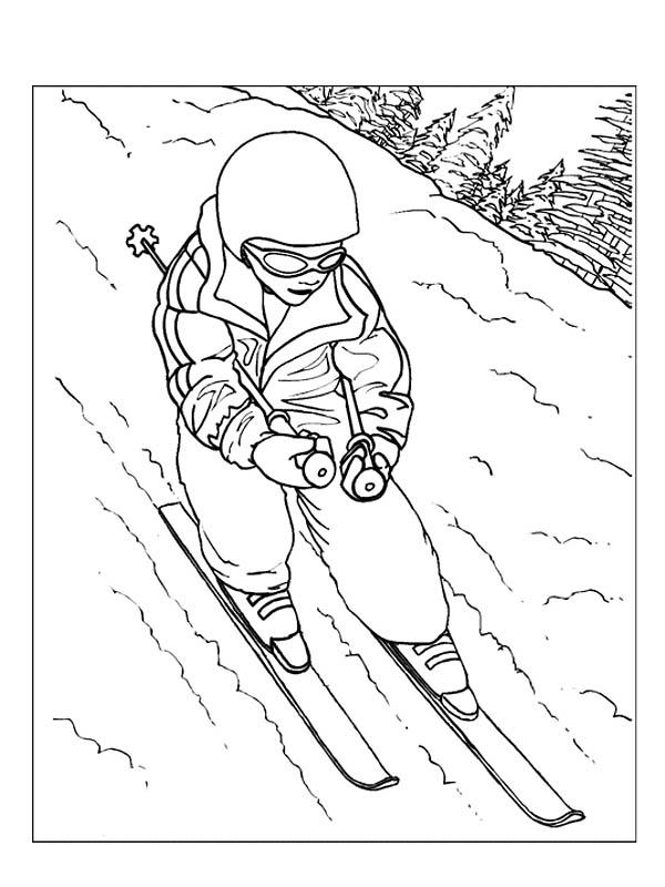 planse desene de colorat iarna 32