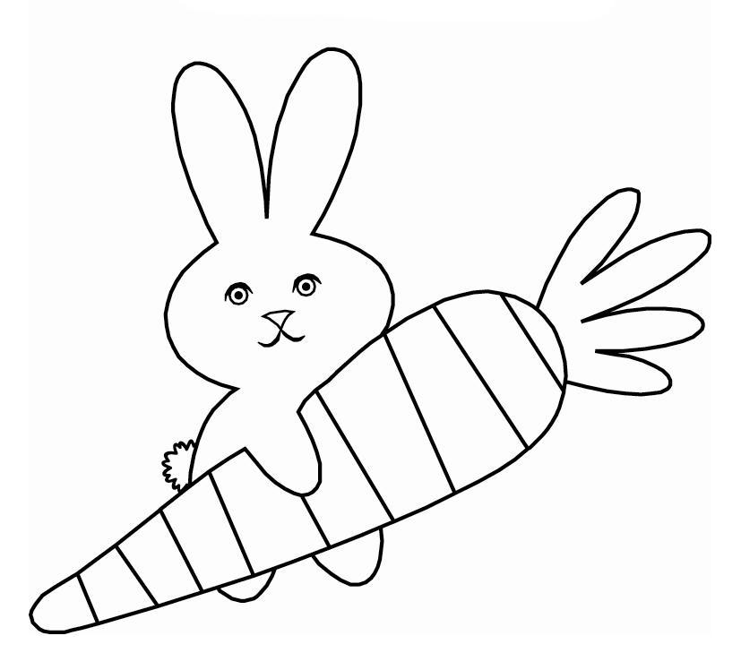planse desene de colorat iepure 12