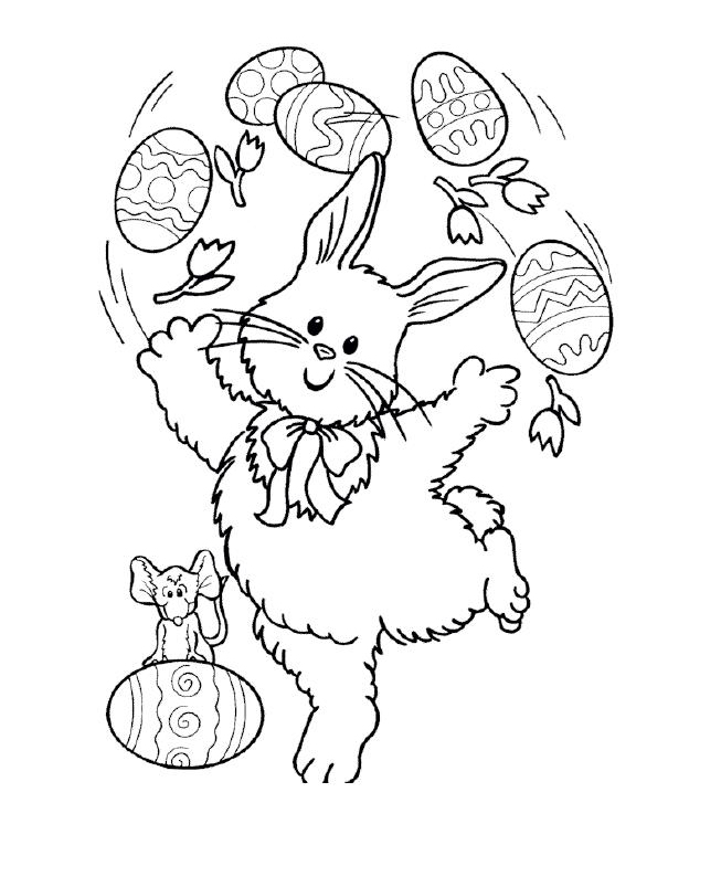 planse desene de colorat iepure 21