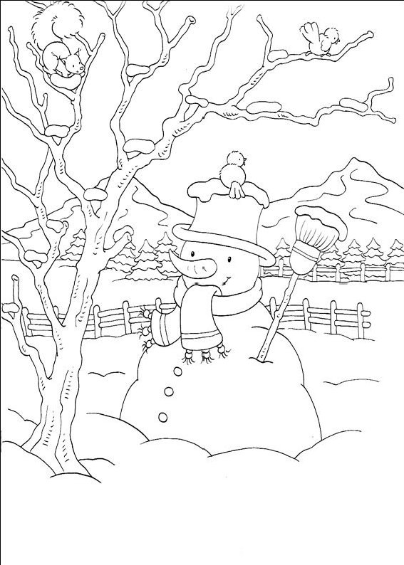 planse desene de colorat om de zapada11