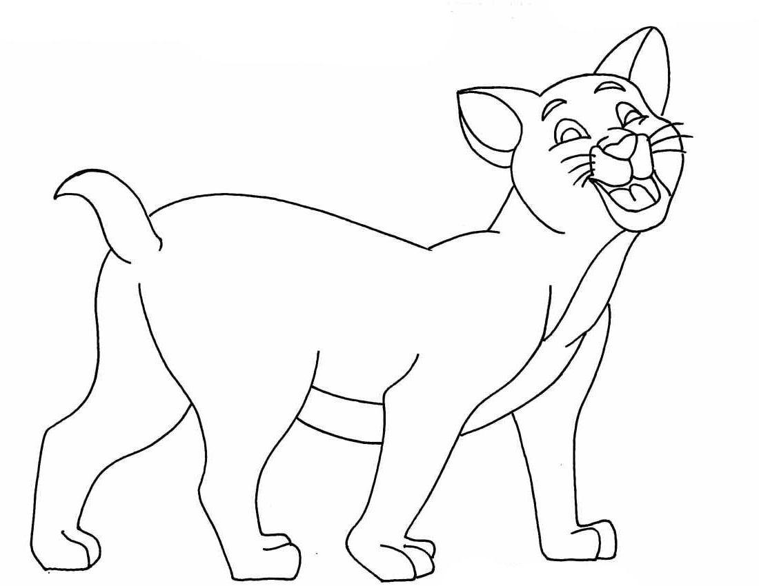 planse desene de colorat pisica 28