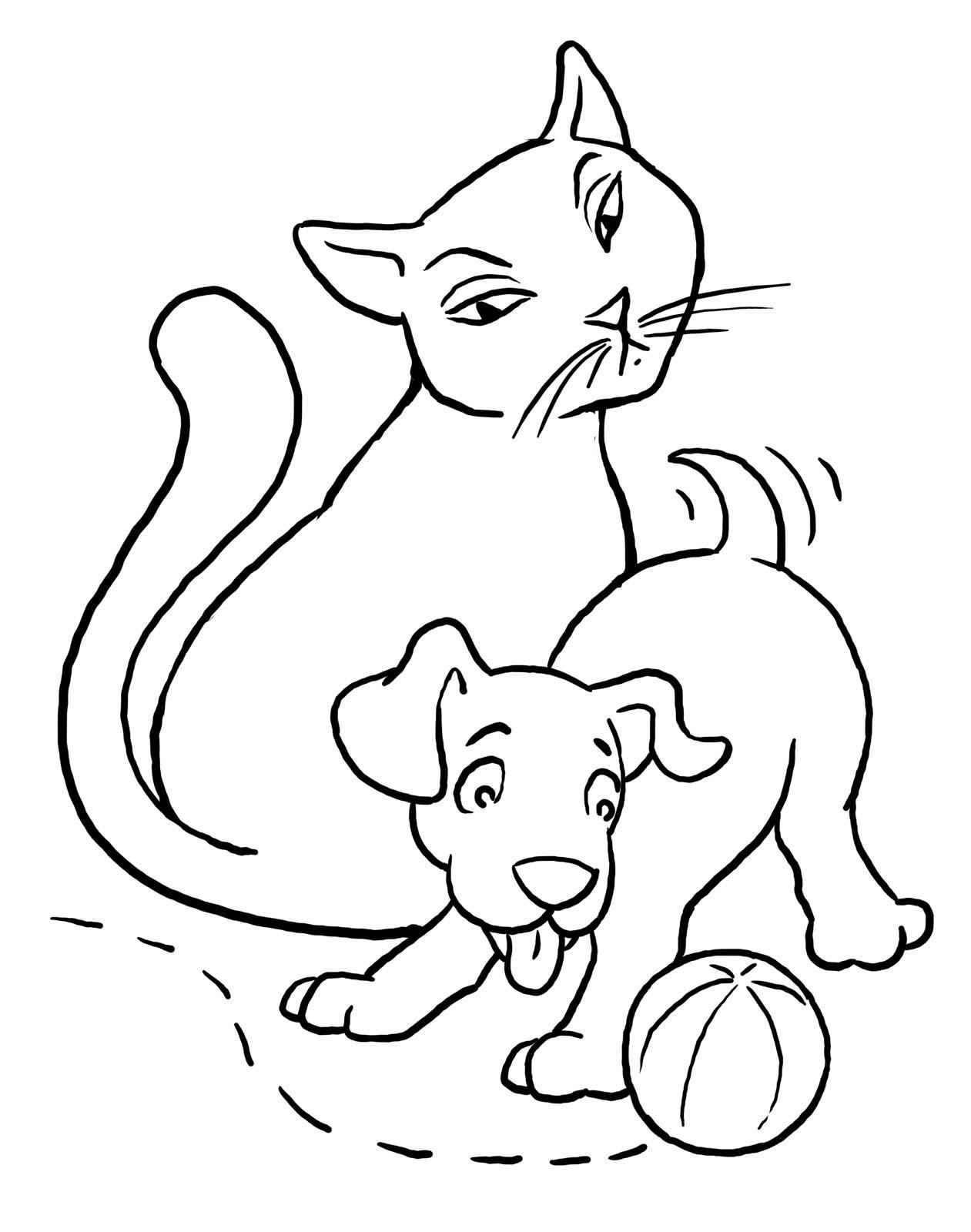 planse desene de colorat pisica 29