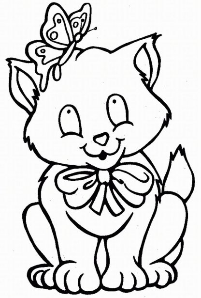 planse desene de colorat pisica 30