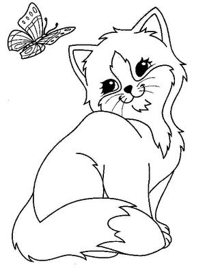 planse desene de colorat pisica 33