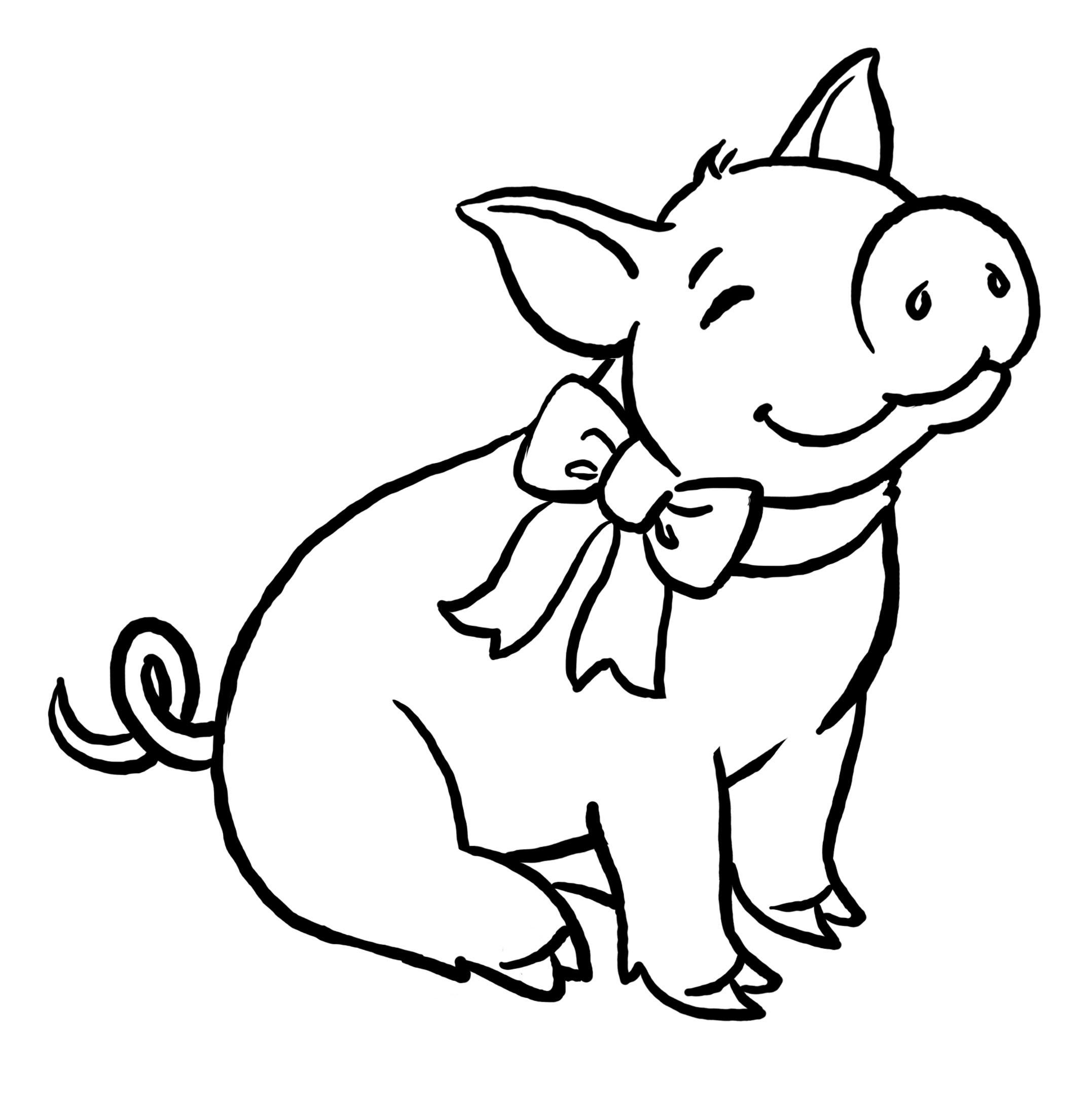 planse desene de colorat porc 20