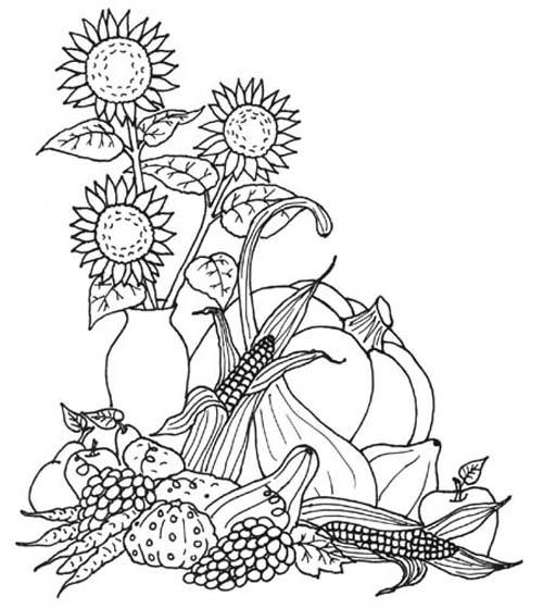 planse desene de colorat toamna 13