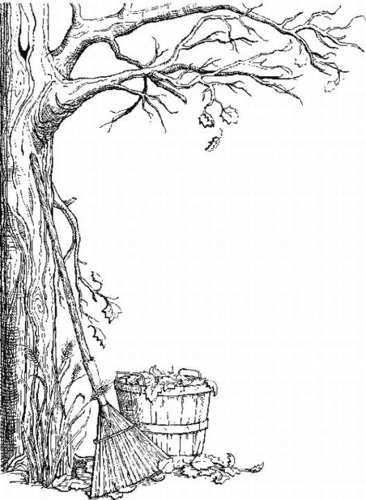 planse desene de colorat toamna 6
