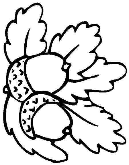 planse desene de colorat toamna frunze 17