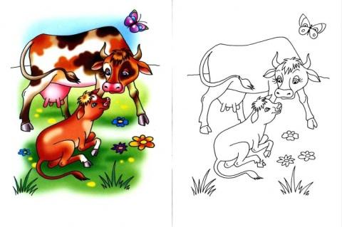 planse desene de colorat vaca 28