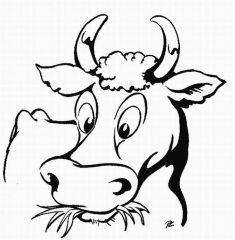 planse desene de colorat vaca 4
