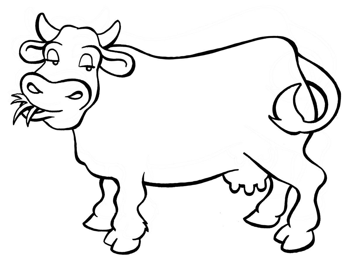 planse desene de colorat vaca 8
